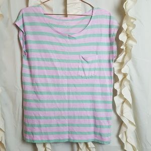 J. Crew striped linen tee slub